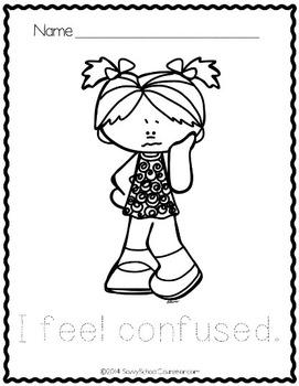Feelings Coloring Sheets FREEBIE- Savvy School Counselor