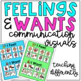Feelings & Wants Communication Visuals
