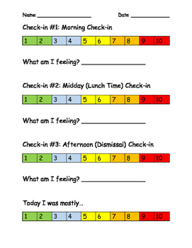Feelings Daily Check in