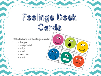 Feelings Desk Cards