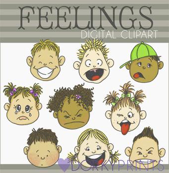 Feelings Digital Clip Art Images