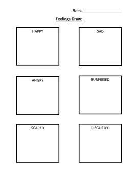 Feelings Drawing Activity