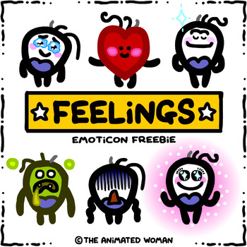 FEELINGS Emoticon Freebie