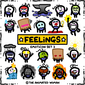 FEELINGS Emoticon Set 2