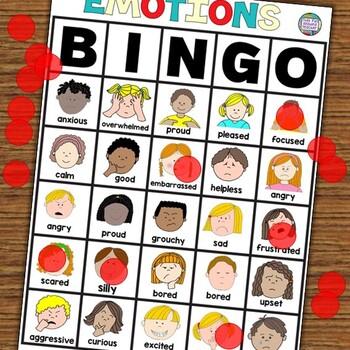 Feelings and Emotions Activities | Bingo