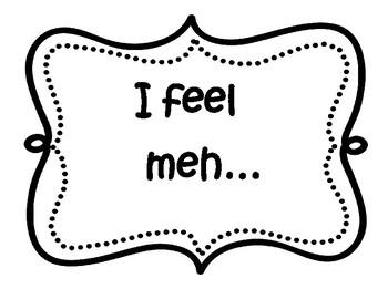 Feelings/Emotions Clip Chart