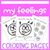 Feelings/Emotions Coloring Pages (For Teachers, Counselors, Parents)