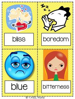 Feelings & Emotions Part 1 {44 Flashcards & Games} ESL Adults & Grades 4-6