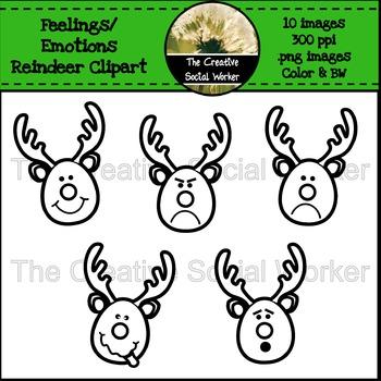 Feelings / Emotions Reindeer Clipart