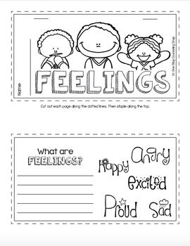 Feelings & Emotions Tab Book