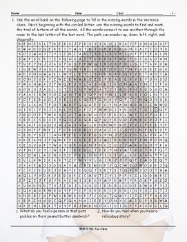 Feelings-Emotions Word Maze