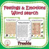 Feelings & Emotions Word Search