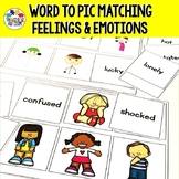 Feelings and Emotions Word to Picture Matching