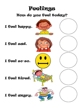 Feelings/Emotions Worksheets
