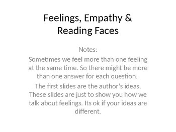 Feelings / Empathy / Reading Faces