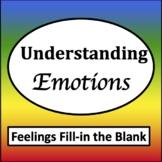 Feelings Fill in the Blank [Zones of Self Regulation Activities]