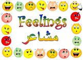 Feelings Flashcards: Arabic and English