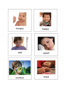 Feelings Flashcards Editable Autism
