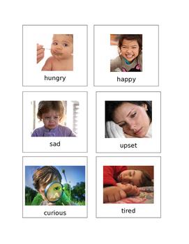 Feelings Flashcards Editable Autism