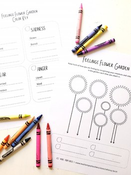 Feelings Flower Garden: Emotions Tracker Printable