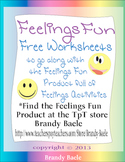 Feelings Fun Freebie - worksheets to go with the Feelings Fun product