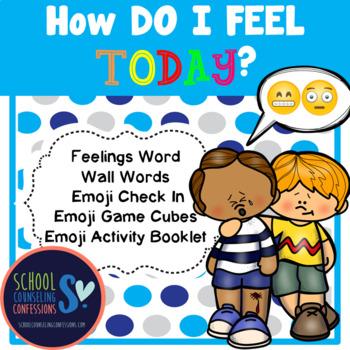 Feelings - Game, Activity Packet, Word Wall Feeling Words