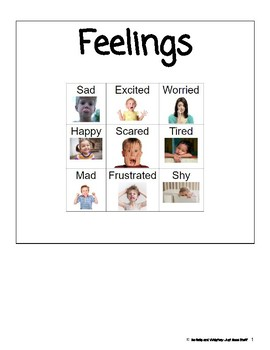 Feelings- Informational Text (level 1-2)