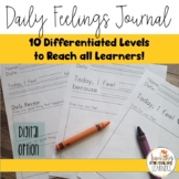 Low-Prep, Differentiated Daily Feelings Journal