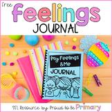 Feelings Writing Journal for Social Emotional Learning