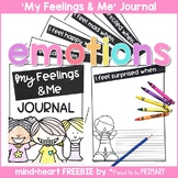Feelings Journal Writing SEL - FREE