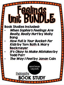 Feelings Kdg Book Study Bundle Pack *Good for Back to School