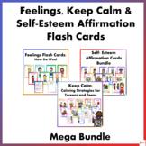 Feelings, Keep Calm and Self-Esteem Affirmation Flash Card
