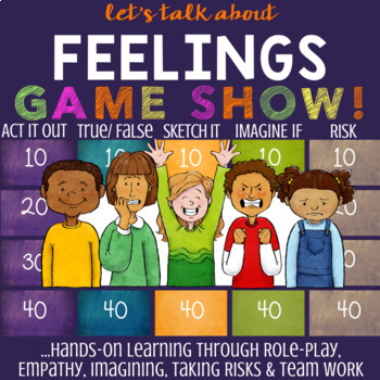 Feelings Lesson: School Counseling Game About Emotions & Coping Skills *Low-Prep