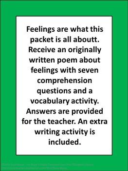 Feelings Poem Packet