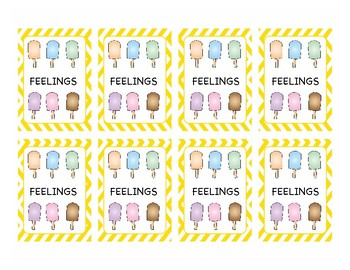 Feelings Popsicle Memory Game
