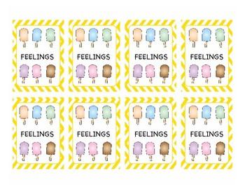 Feelings Popsicle Memory Game
