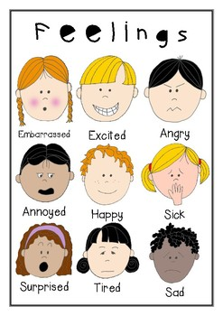 Feelings Poster and Worksheet FREEBIE
