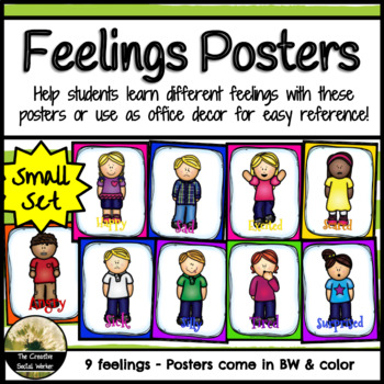 Feelings Posters - 9 Feelings **Smaller Set**