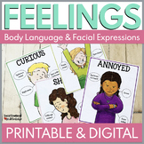 18 Feelings Posters: Body Language and Facial Expressions for 18 Emotions