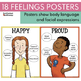 Feelings Posters with Body Language and Facial Expressions