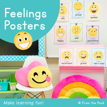 Feelings Posters/Charts/Cards -Help students talk about their feelings