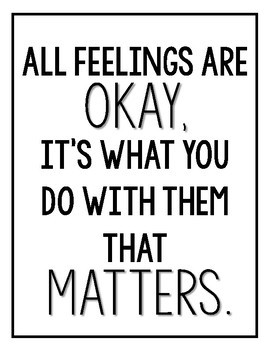 Feelings Quote Poster