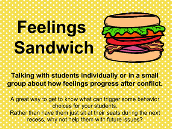 Feelings Sandwich - Talking about Behavior