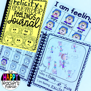 Feelings Set November Scarecrow *Journal Writing and Pocket Chart Activity