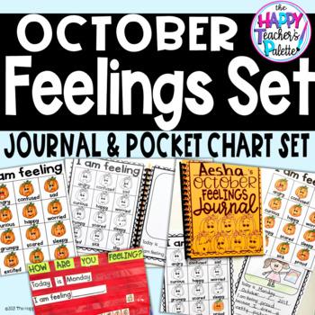 Feelings Set October Pumpkins *Journal Writing and Pocket Chart Activity