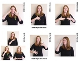 Feelings Sign Language (ASL) Vocabulary Cards