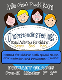 Feelings - Social Skills Activities Children with Disabilities PreK K 1st  2nd