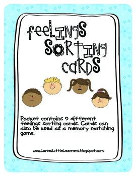 Feelings Sorting Cards