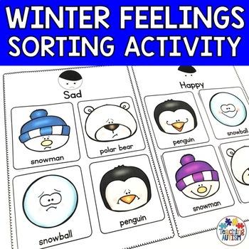 Feelings Sorting Pages Winter
