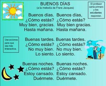Feelings Spanish SMART Board Lesson